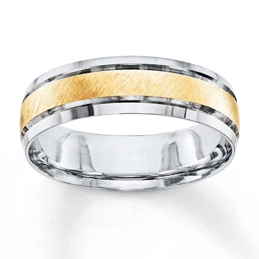 Jared – Men's Wedding Band 10K Two Tone Gold 6Mm In Jared Mens Engagement Rings (Gallery 14 of 15)