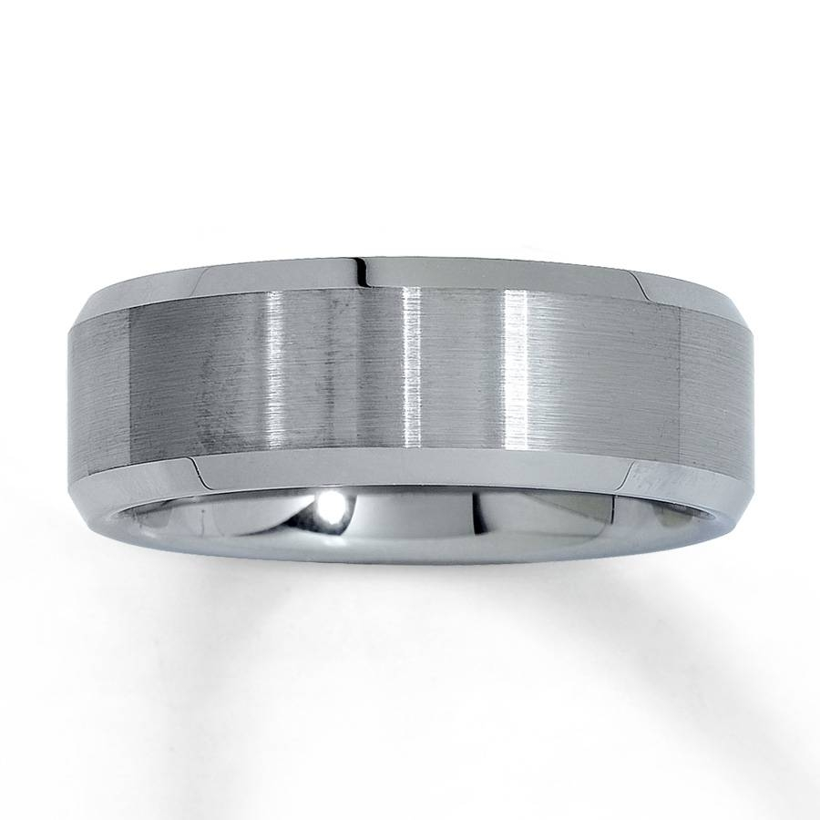 Jared – Wedding Band Tungsten Carbide 8Mm In Jared Mens Engagement Rings (Gallery 13 of 15)
