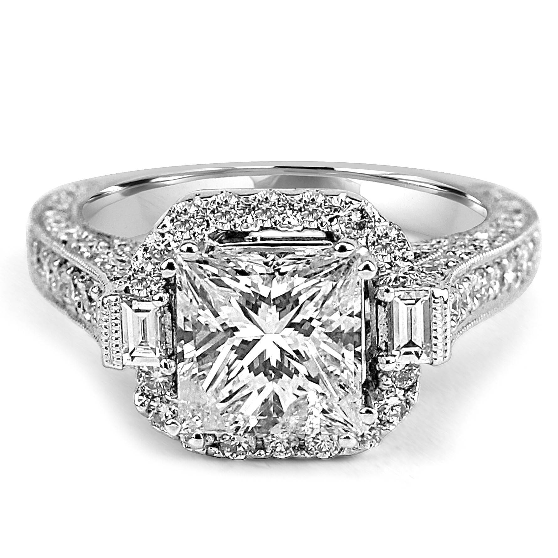 Jean Pierre Jewelers In Halo Diamond Wedding Rings (View 8 of 15)