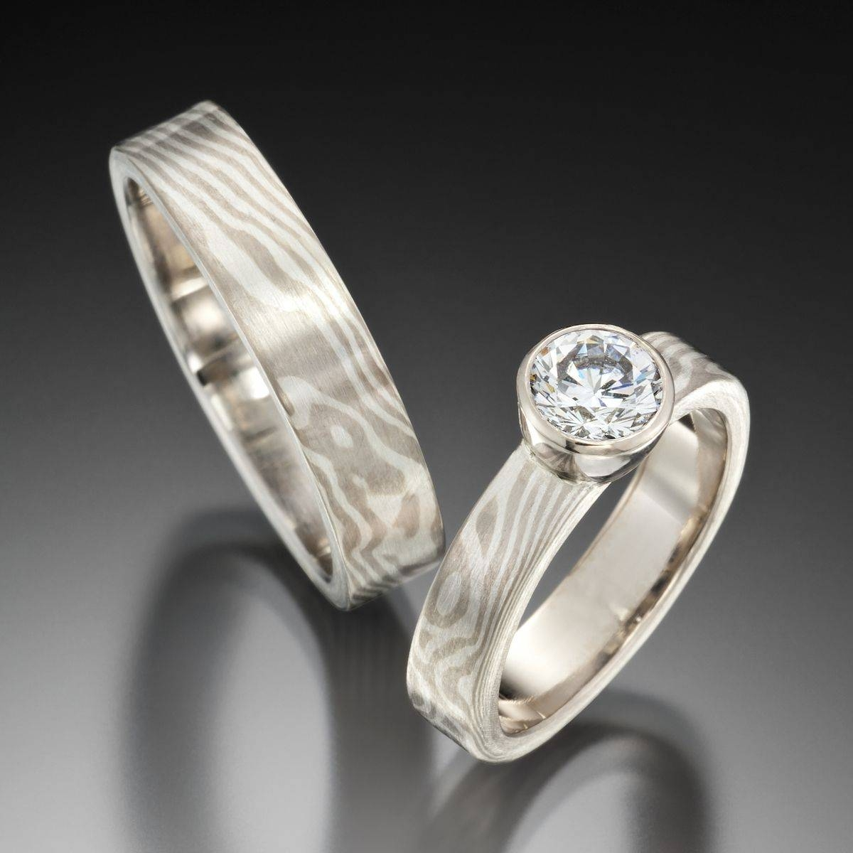 Jenny Reeves: Jenny Reeves | San Francisco, Ca Regarding Mokume Gane Wedding Bands (View 7 of 15)