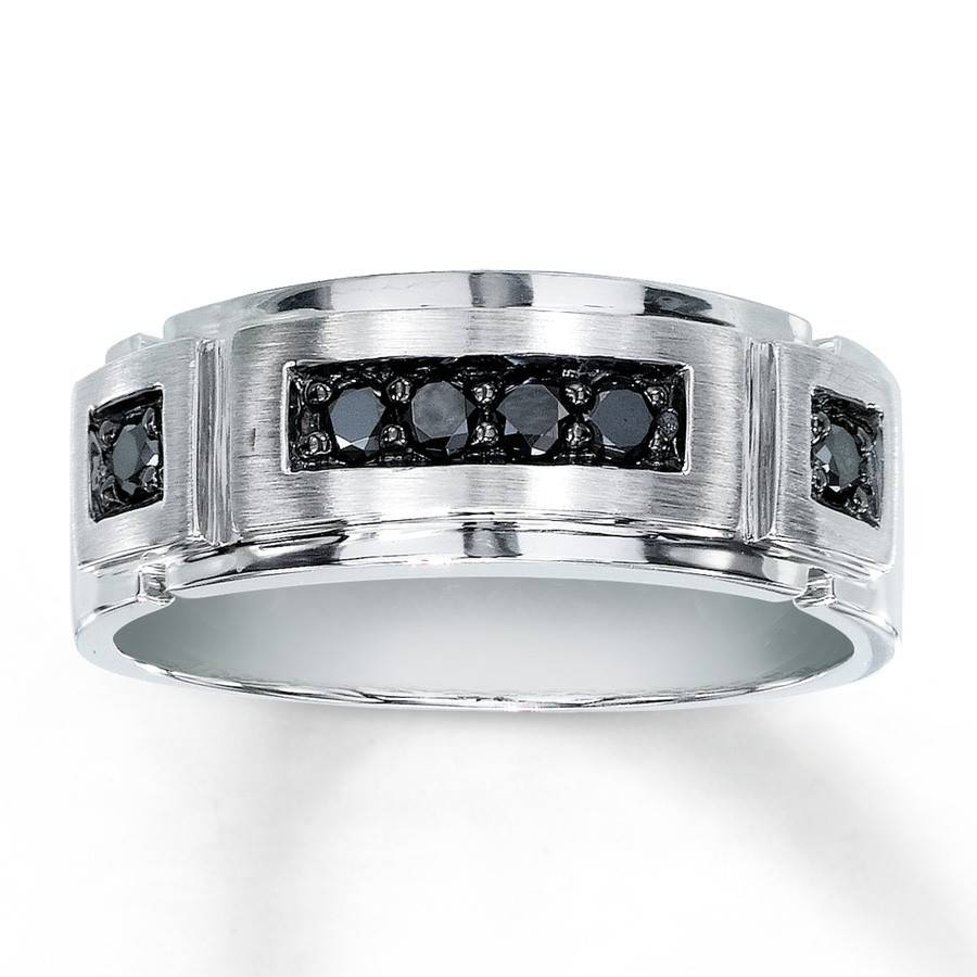 Jewelers Titanium Black Diamond Men S Wedding Band King Jewelers In Jared Mens Engagement Rings (Gallery 5 of 15)