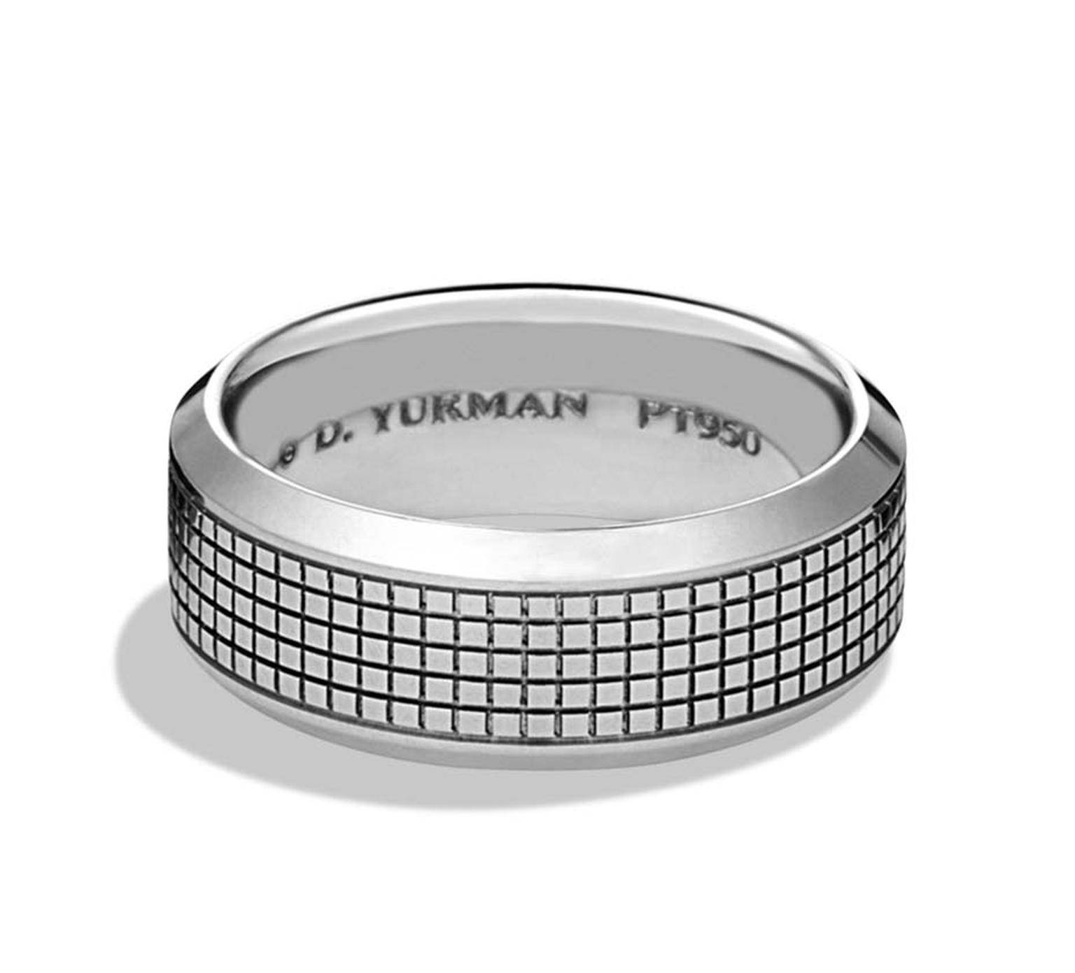 Jewellery For Him: Platinum Wedding Bands Have A Handsome Patina With David Yurman Men's Wedding Bands (View 9 of 15)