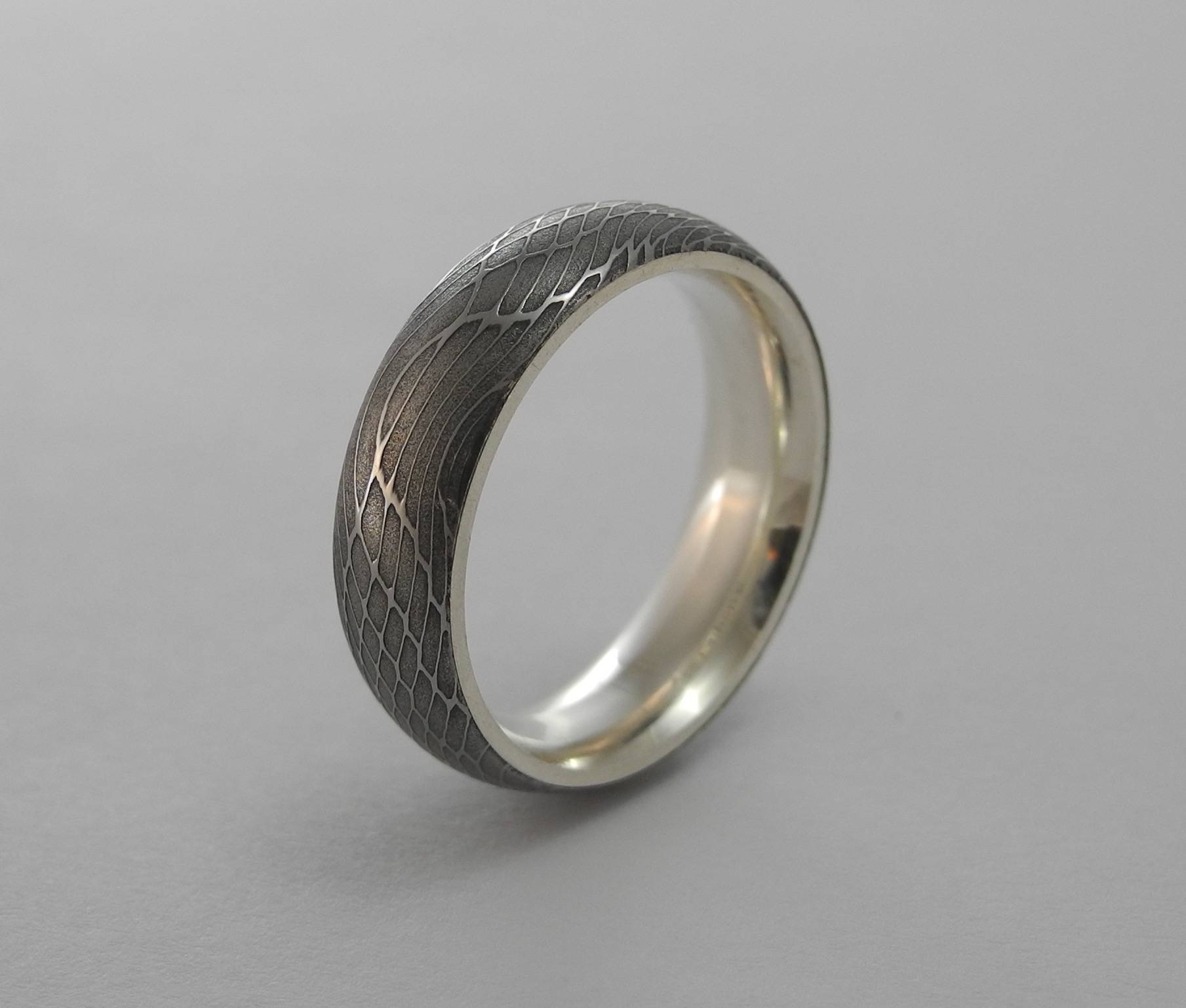Jewelry Company, Carbon 6, Introduces Silver And Damascus Men's Pertaining To Damascus Steel Men's Wedding Bands (View 6 of 15)