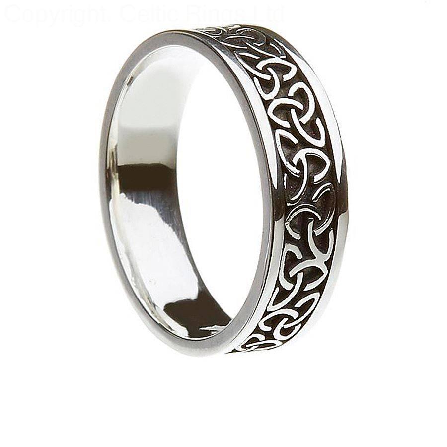 Jewelry Rings: Aislinn Unisex Trinity Knot Ring Irish Wedding Throughout Irish Style Engagement Rings (View 12 of 15)