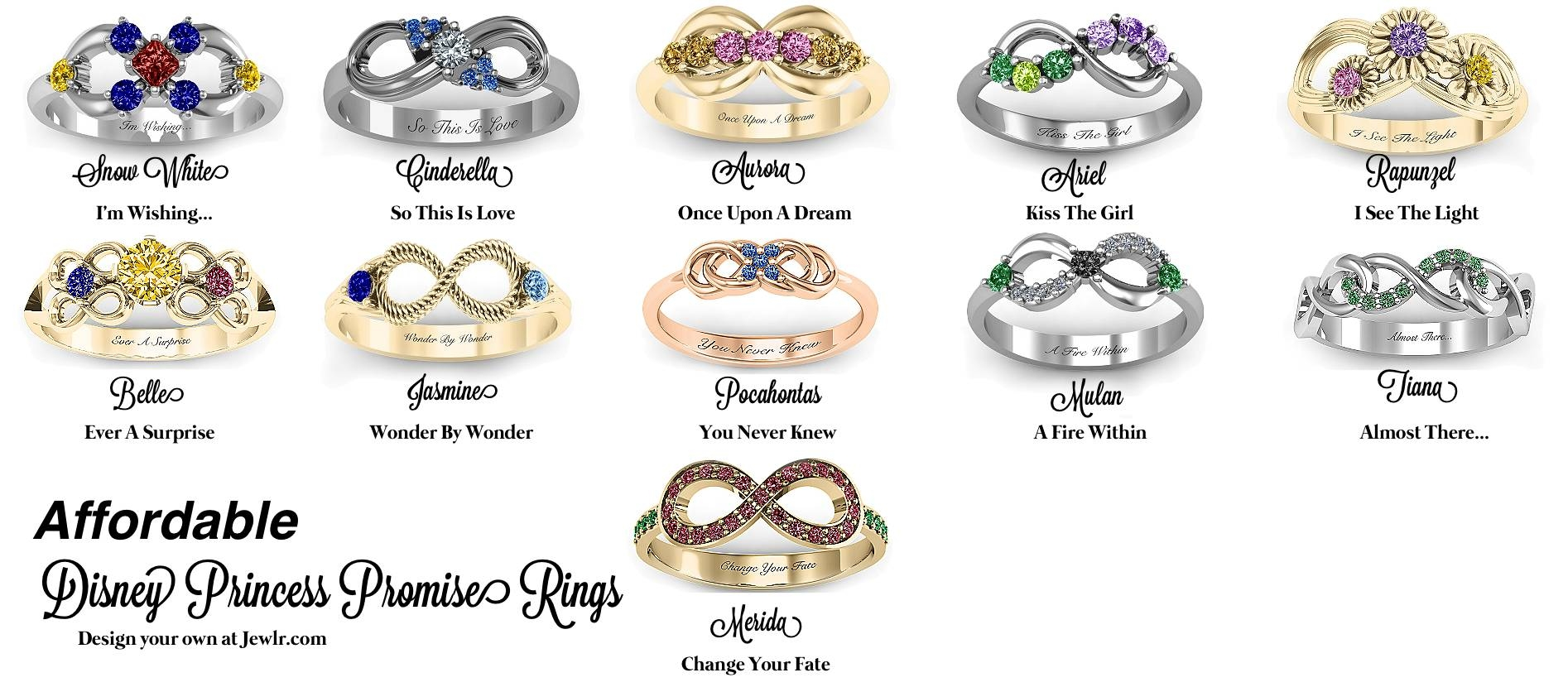 Jewelry Rings: Disneyess Engagement Rings Gemvara New Ring In Disney Themed Engagement Rings (View 12 of 15)