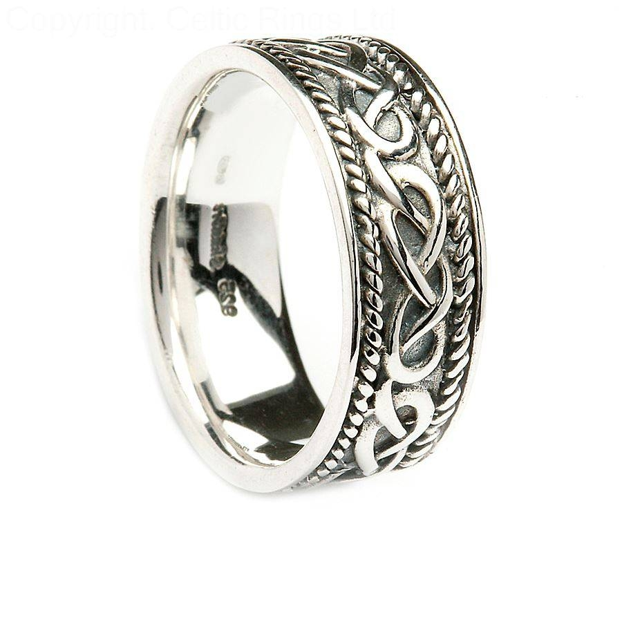 Jewelry Rings: Tjhl042 Claddagh Celtic Wedding Ring Silver Gold With Celtic Engagement Rings For Men (View 5 of 15)