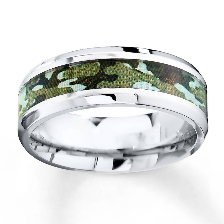 Kay – Camouflage Wedding Band Stainless Steel 8Mm Intended For Kay Jewelers Wedding Bands For Men (View 3 of 15)