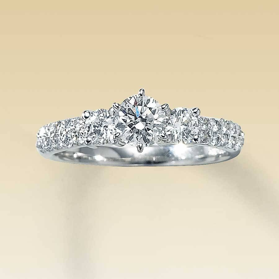 Kay – Clearance! 1 Carat T.w. Diamond Engagement Ring With Discontinued Engagement Rings (Gallery 1 of 15)