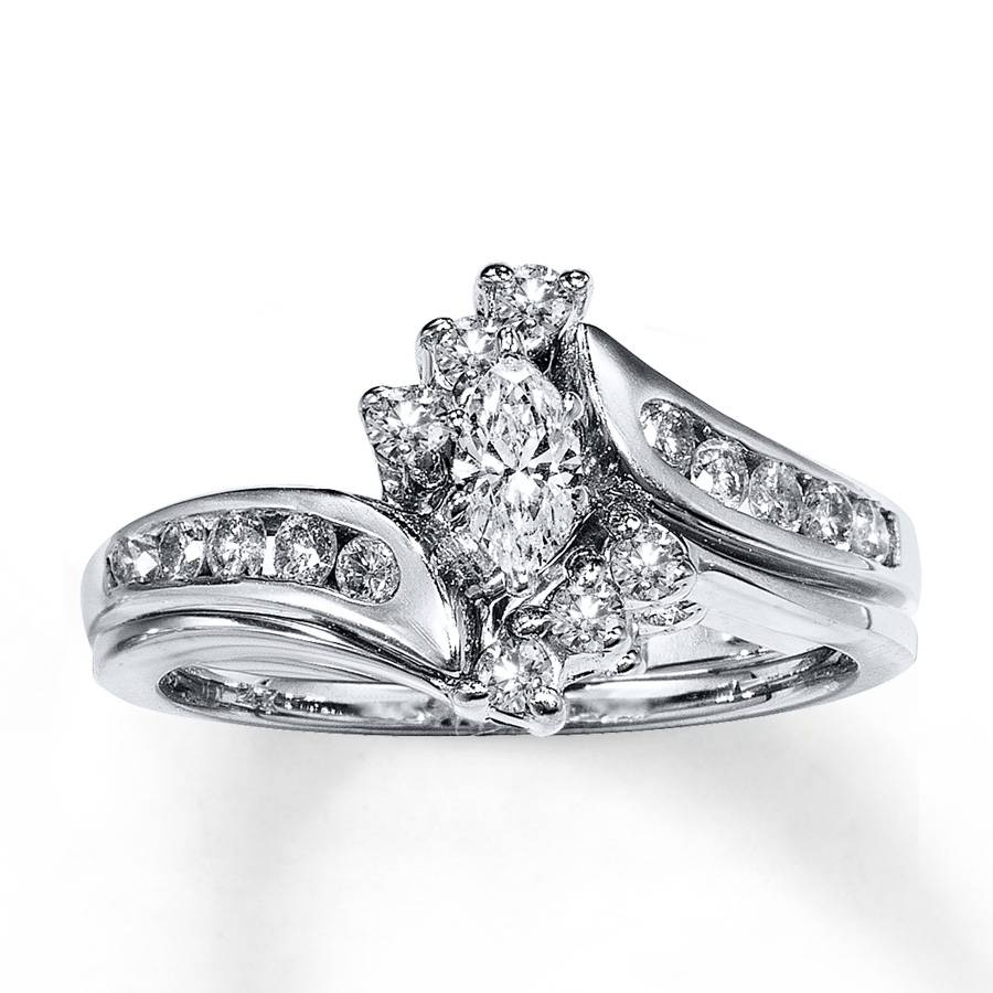 Kay – Diamond Bridal Set 1/2 Ct Tw Marquise Cut 14k White Gold Regarding Marquise Cut Diamond Wedding Rings Sets (View 3 of 15)