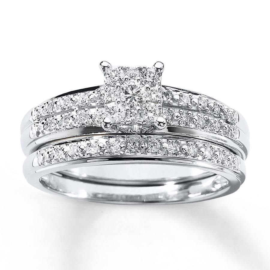 Kay – Diamond Bridal Set 1/3 Ct Tw Round Cut 10k White Gold Within White Gold Diamond Wedding Rings Sets (View 3 of 15)