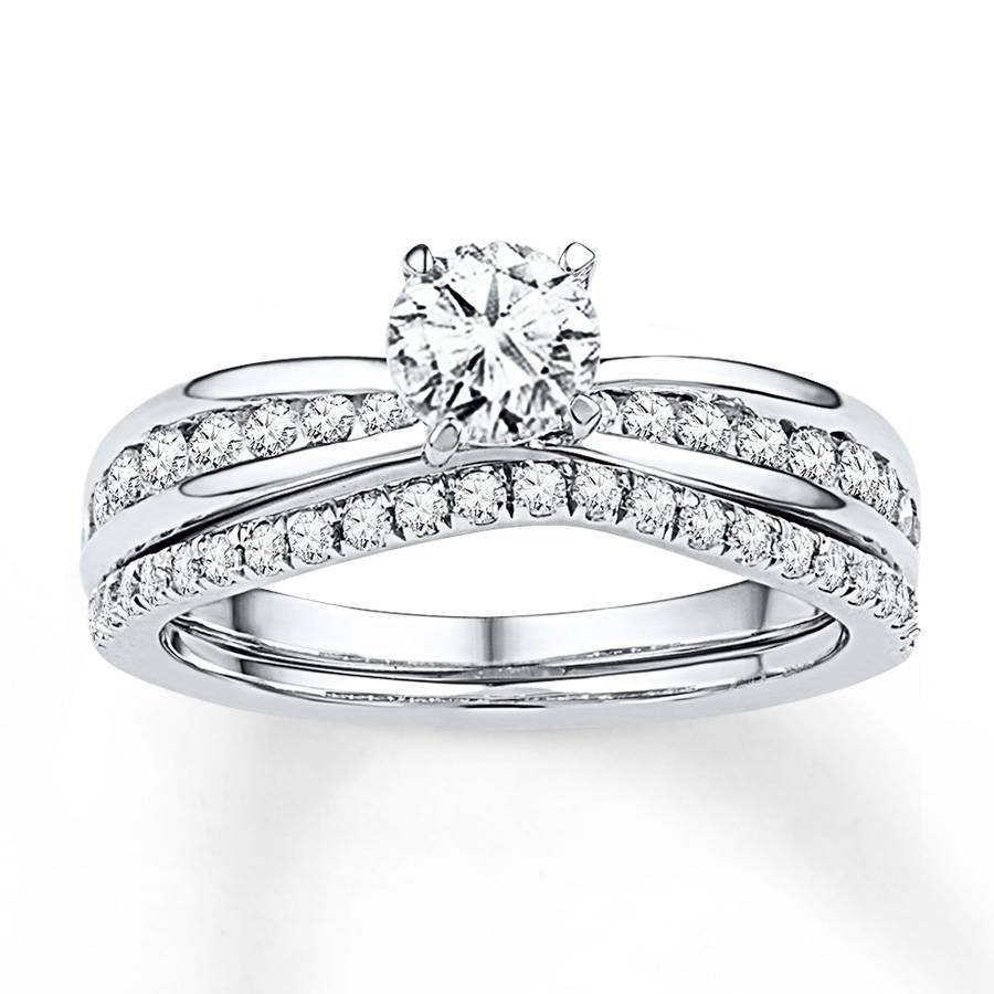 Kay – Diamond Bridal Set 7/8 Ct Tw Round Cut 14K White Gold With Regard To White Gold Diamond Wedding Rings Sets (Gallery 13 of 15)