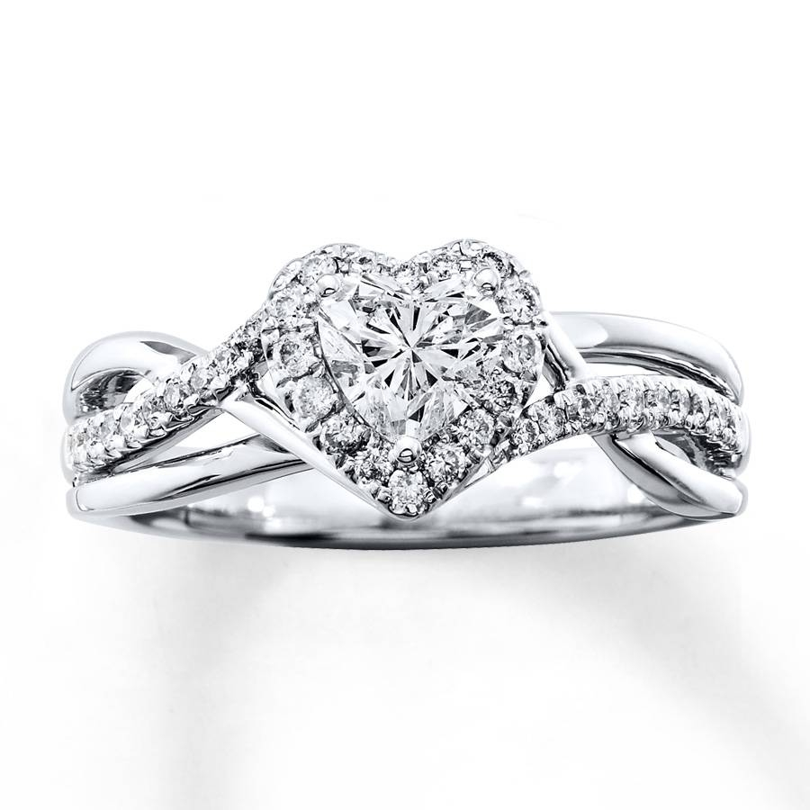 Kay – Diamond Engagement Ring 3/4 Ct Tw Heart Shaped 14K White Gold Inside Heart Engagement Rings (Gallery 1 of 15)