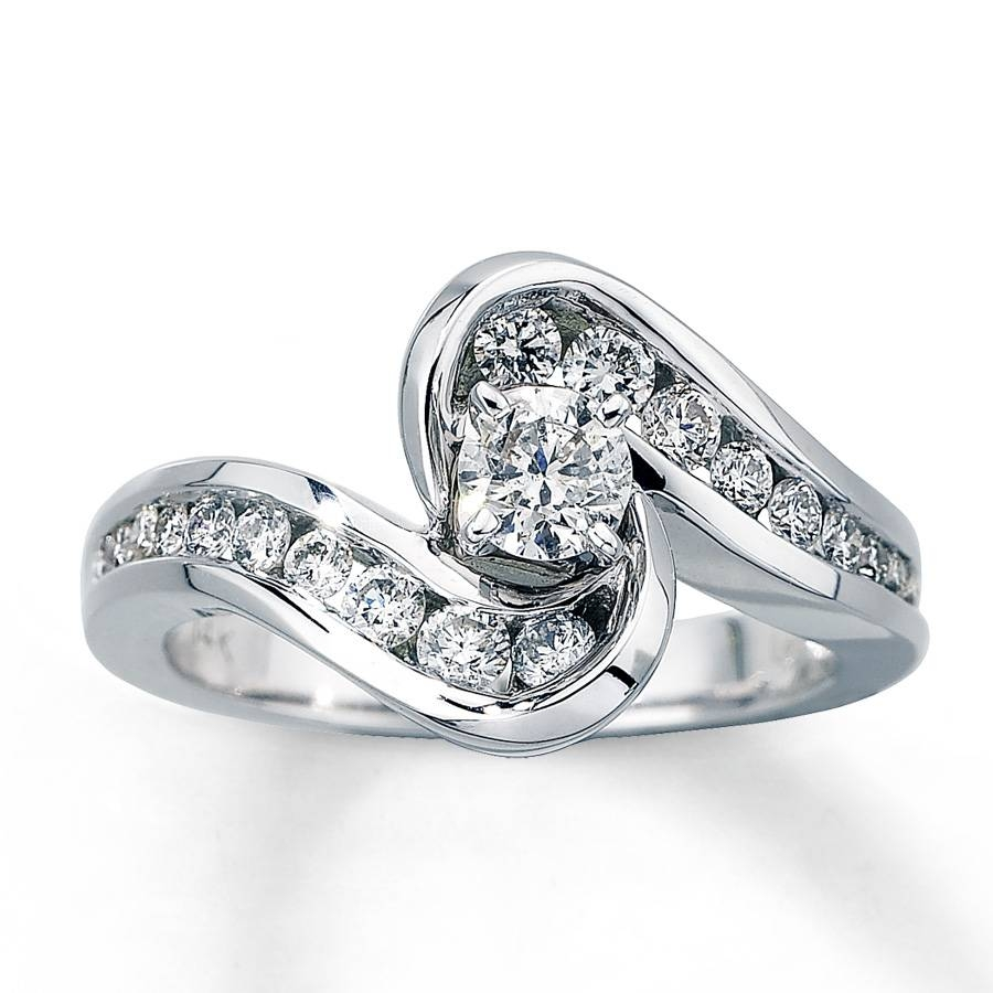 Kay – Diamond Engagement Ring 3/4 Ct Tw Round Cut 14k White Gold In Spiral Engagement Rings (View 6 of 15)