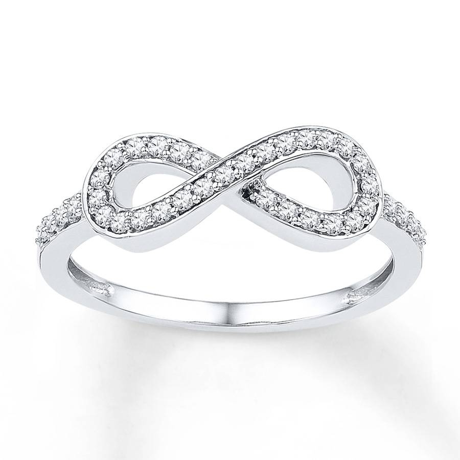 Kay – Diamond Infinity Ring 1/5 Ct Tw Round Cut Sterling Silver With Regard To Infinity Symbol Engagement Rings (View 10 of 15)