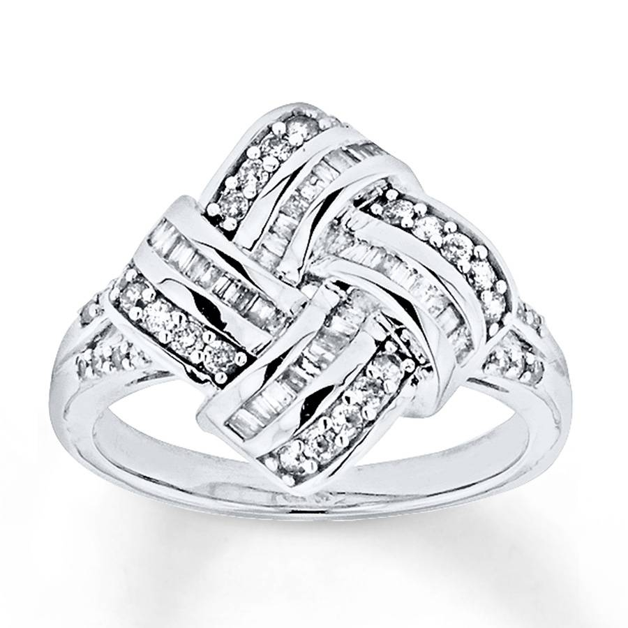 Kay – Diamond Knot Ring 1/2 Carat Tw Sterling Silver For Knot Engagement Rings (View 7 of 15)