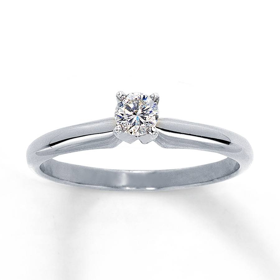 Kay – Diamond Solitaire Ring 1/5 Carat Round Cut 14K White Gold In 5 Carat Diamond Wedding Rings (View 13 of 15)