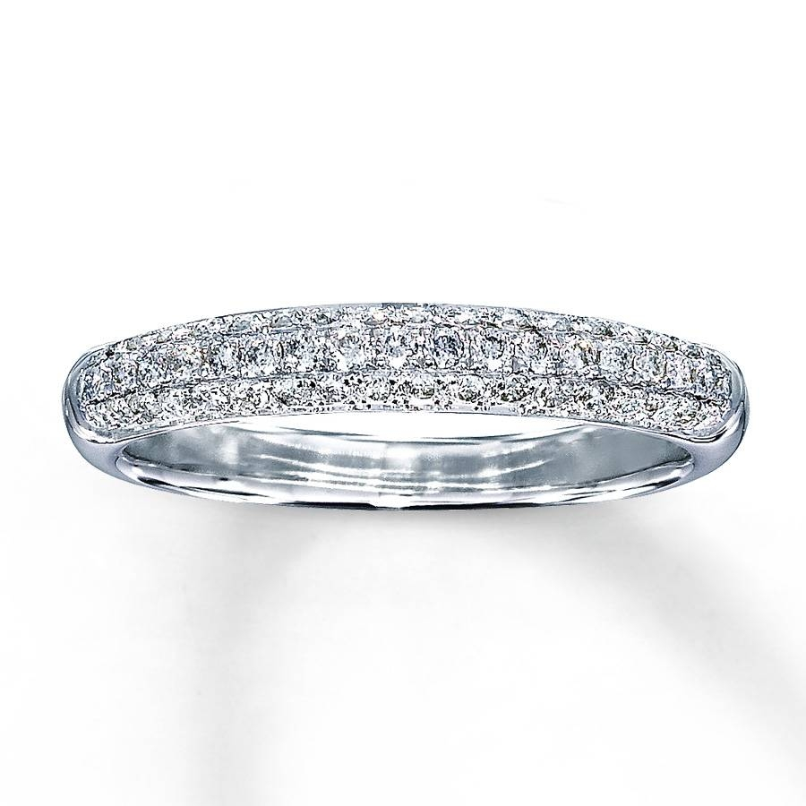 Kay – Diamond Wedding Band 3/8 Ct Tw Round Cut 14K White Gold Intended For Wedding Bands At Kay Jewelers (View 9 of 15)