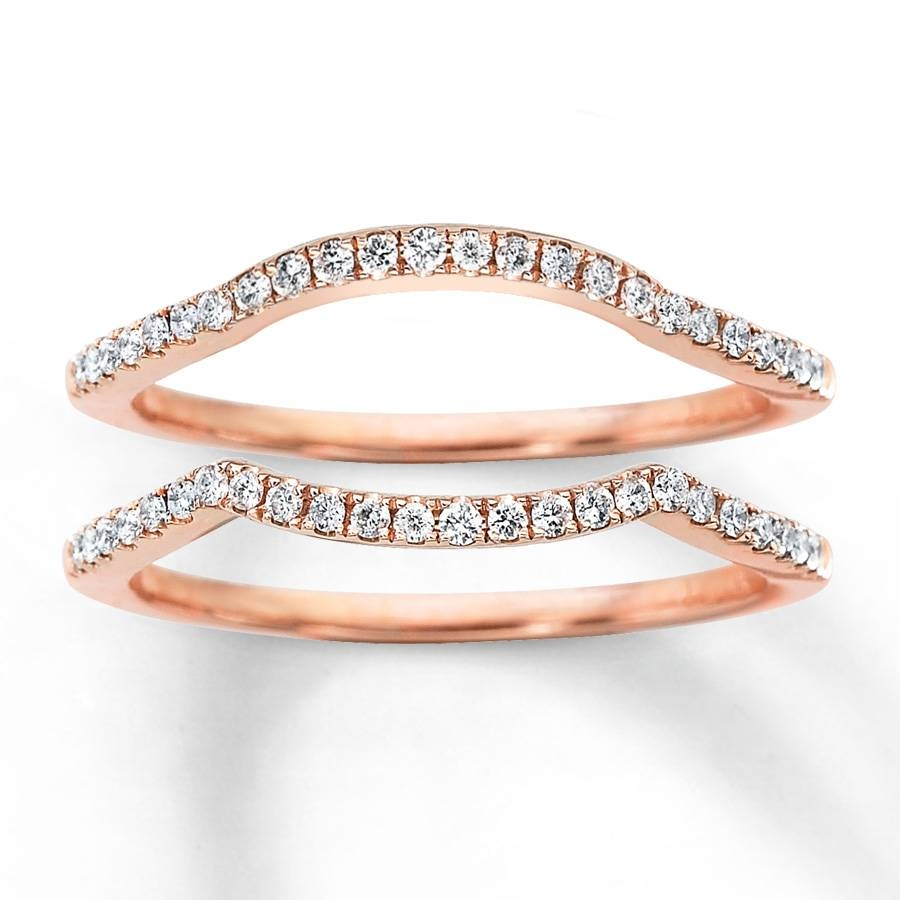 Kay – Diamond Wedding Bands 1/4 Ct Tw Round Cut 14K Rose Gold For Rose Gold Wedding Bands (View 8 of 15)