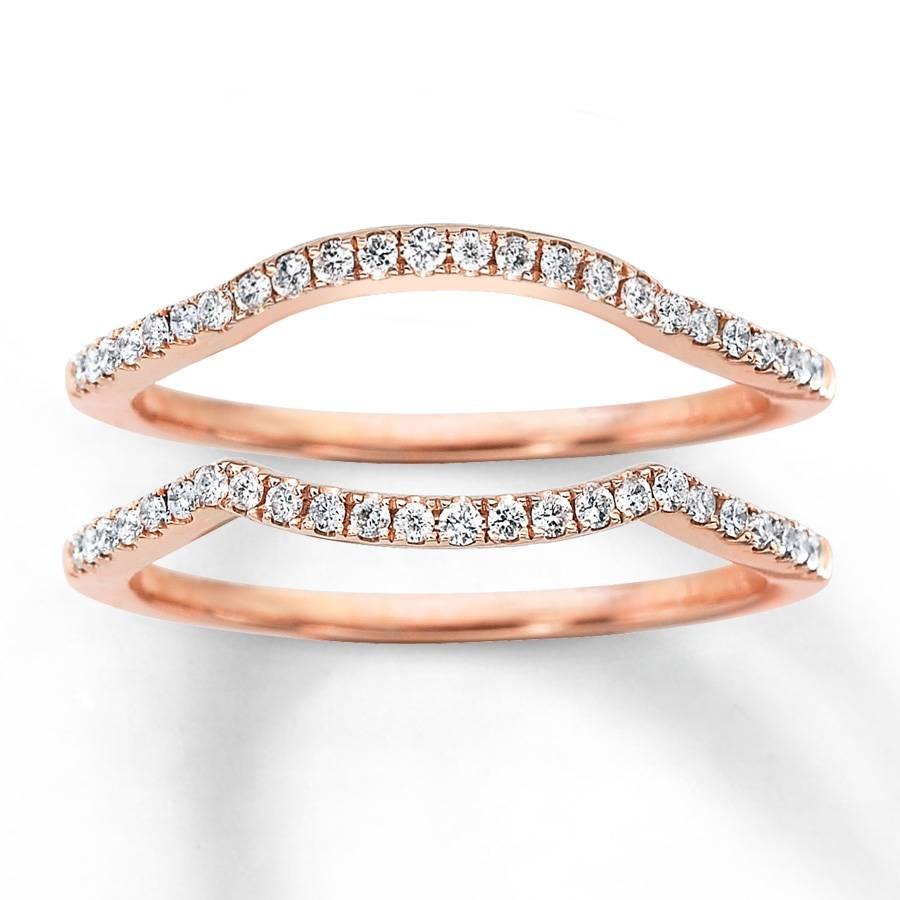 Kay – Diamond Wedding Bands 1/4 Ct Tw Round Cut 14K Rose Gold For Rose Gold Wedding Bands (View 8 of 15)