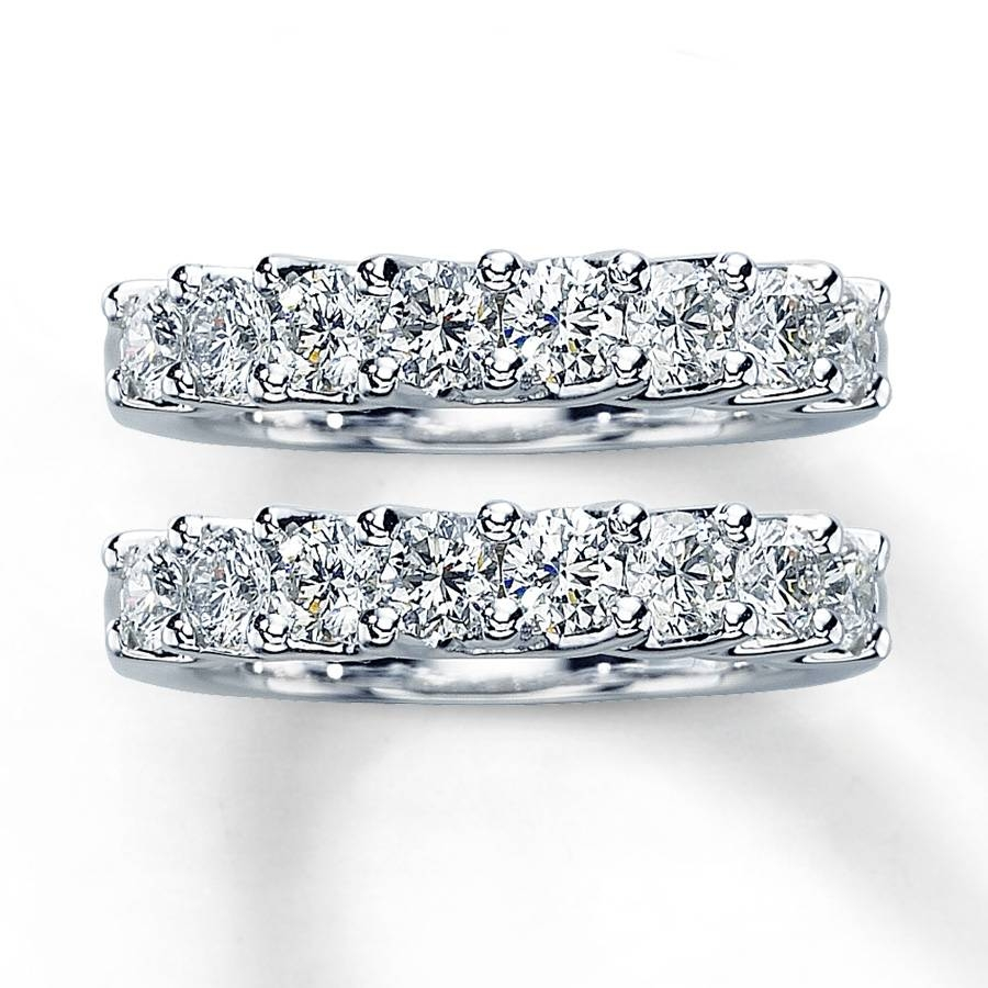 Kay – Diamond Wedding Bands 2 Ct Tw Round Cut 14K White Gold Intended For 2 Band Wedding Rings (View 12 of 15)