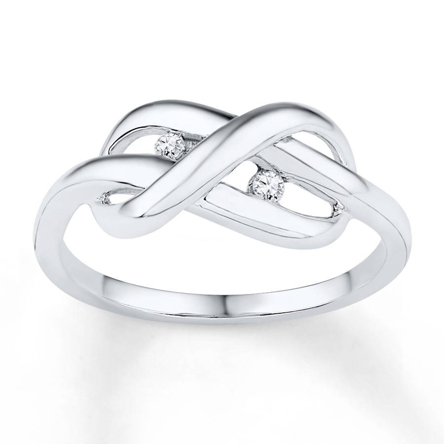 Kay – Infinity Knot Ring 1/20 Ct Tw Diamonds Sterling Silver Within Infinity Knot Engagement Rings (View 10 of 15)