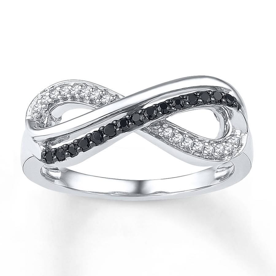 Kay – Infinity Symbol Ring 1/6 Ct Tw Diamonds Sterling Silver Inside Infinity Symbol Engagement Rings (View 13 of 15)