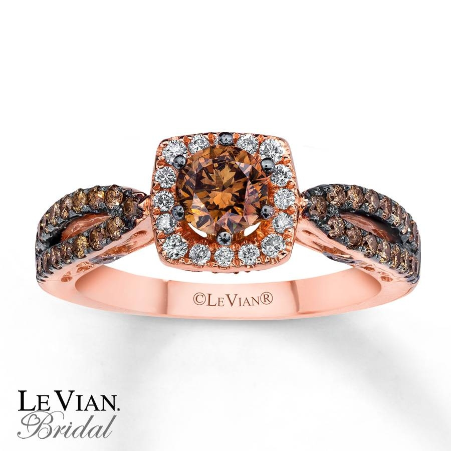Kay – Le Vian Bridal Chocolate Diamonds 14k Gold Engagement Ring In Le Vian Wedding Bands (View 5 of 15)