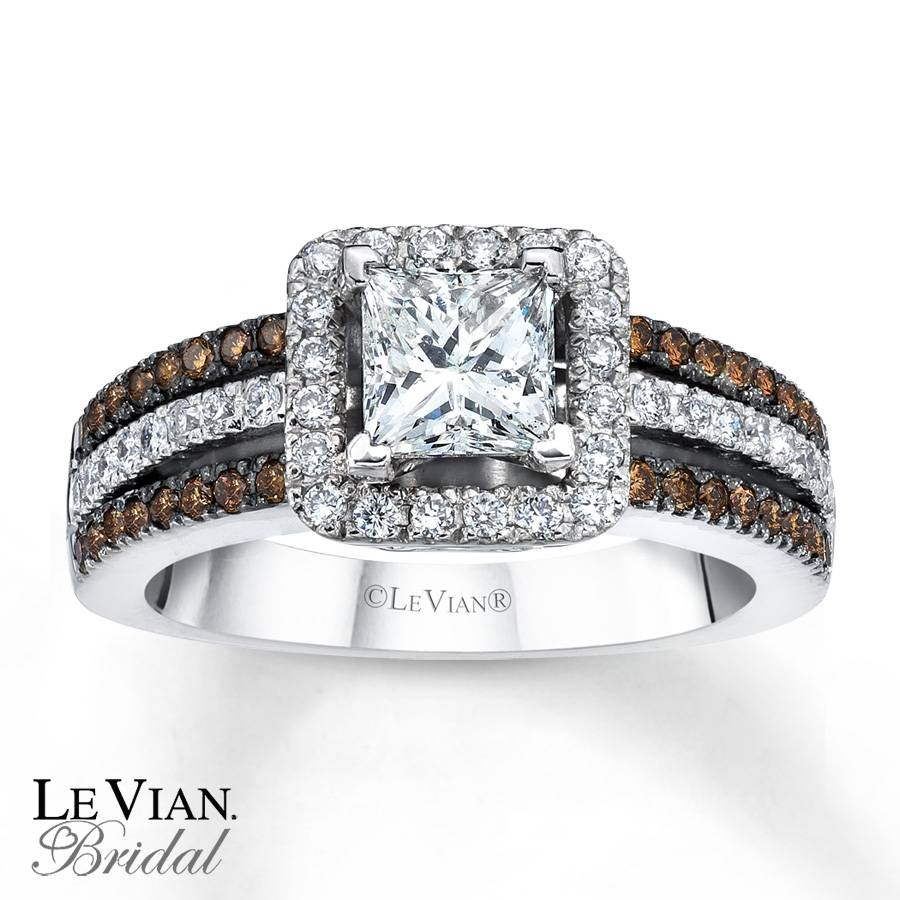 Kay – Le Vian Bridal Chocolate Diamonds 14K Gold Engagement Ring With Chocolate Gold Wedding Bands (View 7 of 15)