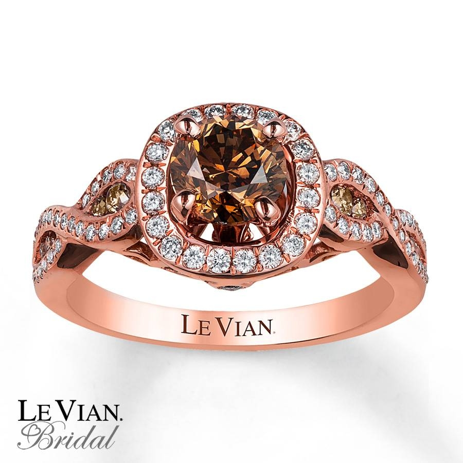 Kay – Le Vian Engagement Ring 1 1/3 Cttw Diamonds 14K Strawberry Gold Pertaining To Chocolate Diamond Wedding Bands (View 8 of 15)