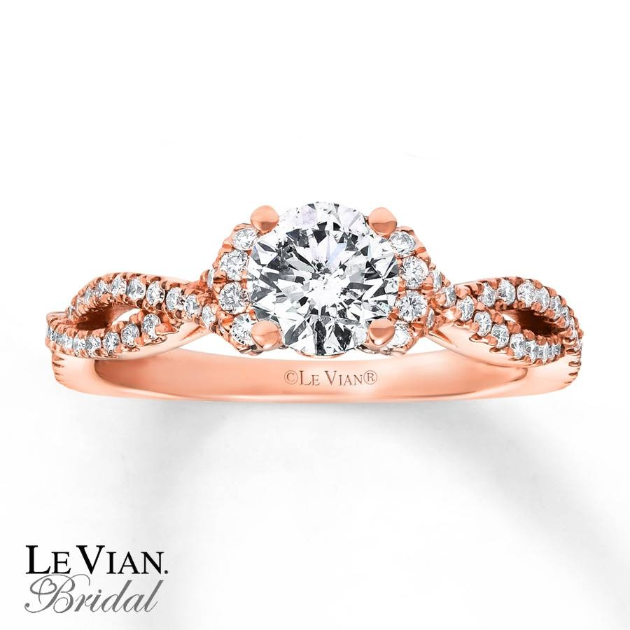 Kay – Le Vian Engagement Ring 1 1/8 Cttw Diamonds 14K Strawberry Gold For Strawberry Gold Wedding Rings (View 8 of 15)