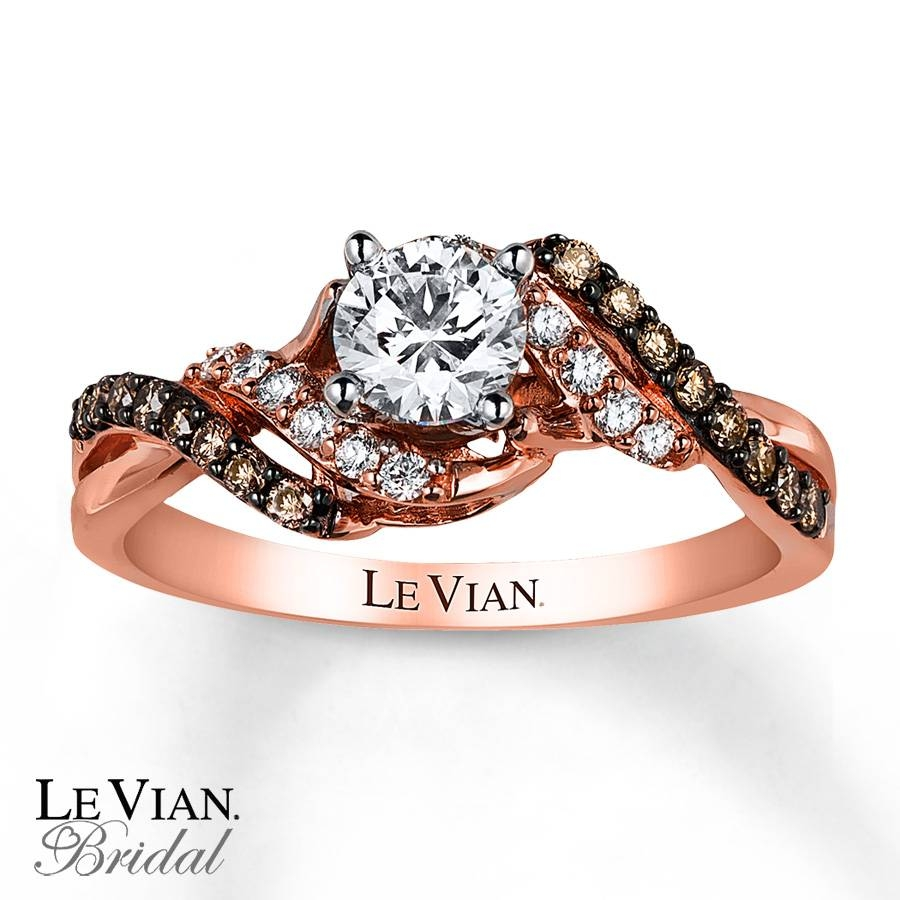 Kay – Le Vian Engagement Ring 3/4 Ct Tw Diamonds 14K Strawberry Gold With Regard To Strawberry Gold Wedding Rings (View 10 of 15)