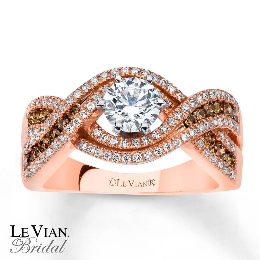 Kay – Le Vian Engagement Ring Chocolate Diamonds 14K Strawberry Gold Within Strawberry Gold Wedding Rings (View 11 of 15)