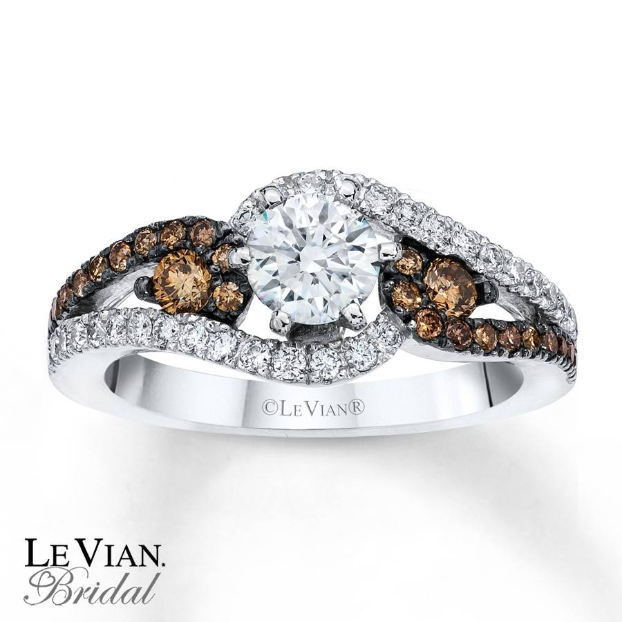 Kay – Le Vian Engagement Ring Chocolate Diamonds 14K Vanilla Gold Within Chocolate Gold Wedding Bands (Gallery 3 of 15)