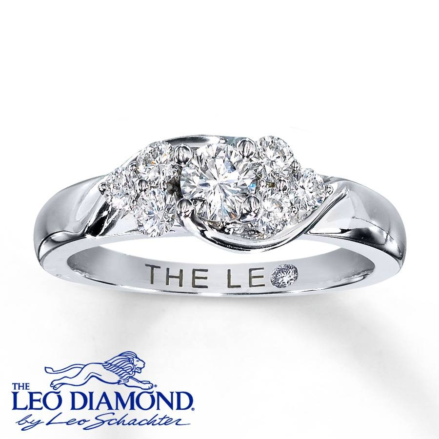 Kay – Leo Diamond Ring 5/8 Ct Tw Round Cut 14K White Gold For Leo Diamonds Engagement Rings (View 8 of 15)