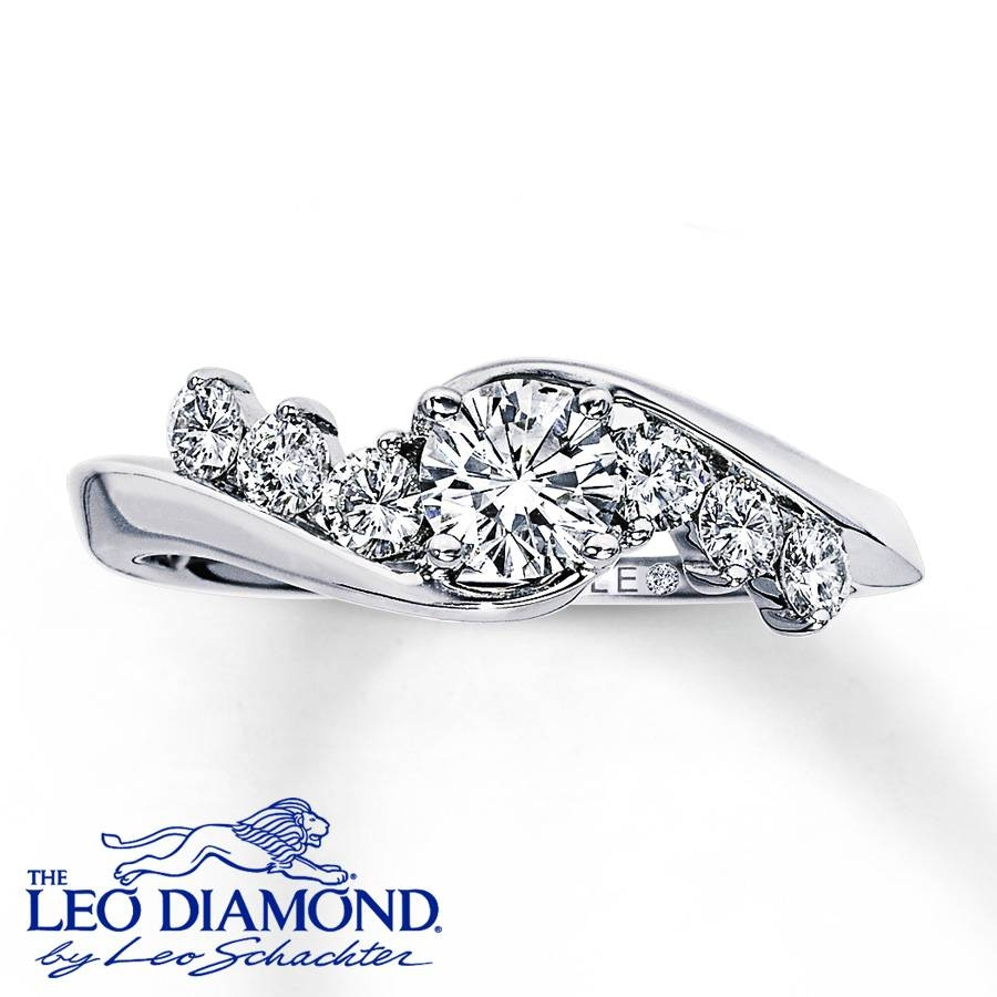Kay – Leo Engagement Ring 3/4 Ct Tw Diamonds 14K White Gold For Leo Diamonds Engagement Rings (Gallery 3 of 15)