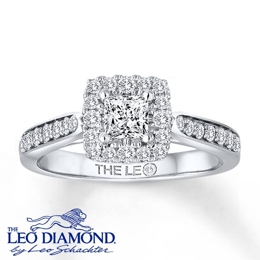 Kay – Leo Engagement Ring 3/4 Ct Tw Diamonds 14K White Gold With Regard To Leo Diamonds Engagement Rings (View 11 of 15)