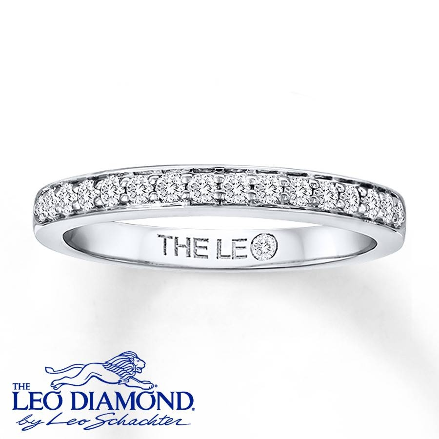 Kay – Leo Wedding Band 1/4 Ct Tw Diamonds 14K White Gold With Regard To Leo Diamond Wedding Bands (View 13 of 15)