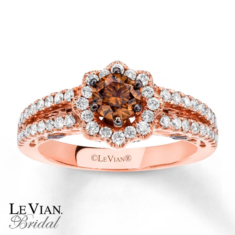 Kay – Levian Chocolate Diamonds 1 1/8 Ct Tw 14K Gold Engagement Ring Regarding Chocolate Gold Wedding Bands (View 12 of 15)