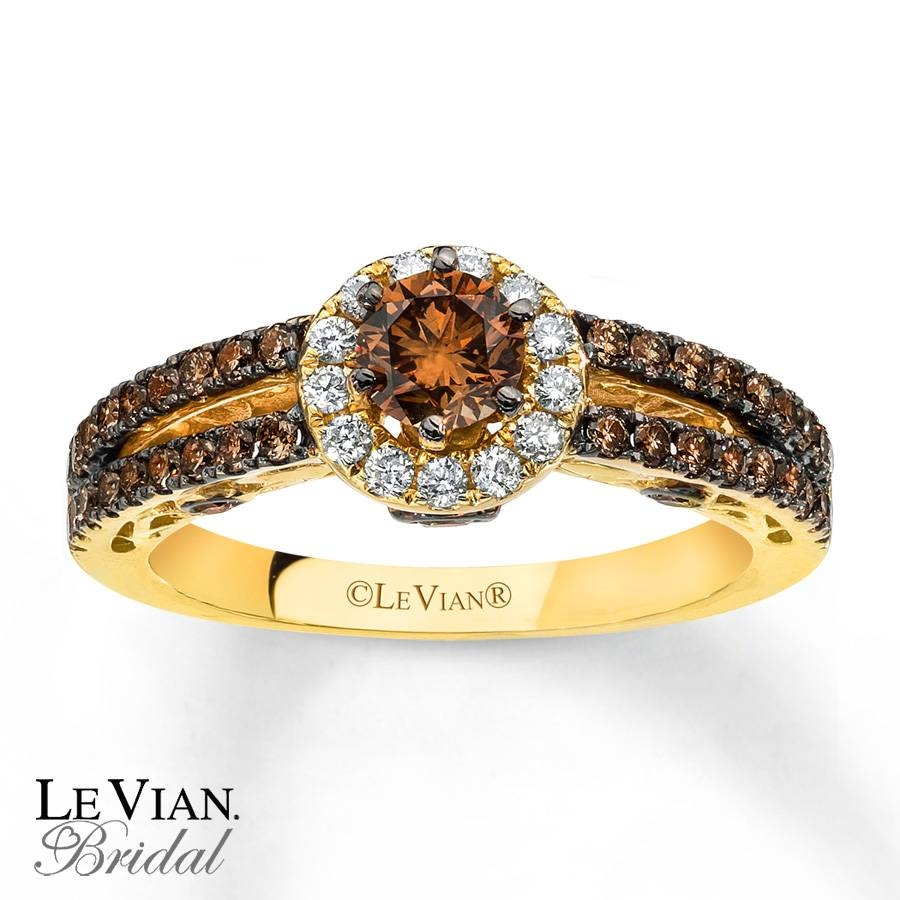 Kay – Levian Chocolate Diamonds 1 Ct Tw Engagement Ring 14K Gold Throughout Chocolate Gold Wedding Bands (View 13 of 15)