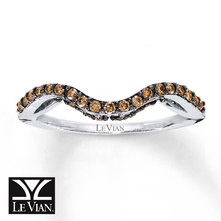 Kay – Levian Chocolate Diamonds 1/4 Ct Tw Wedding Band 14K Gold Regarding Chocolate Wedding Bands (View 11 of 15)
