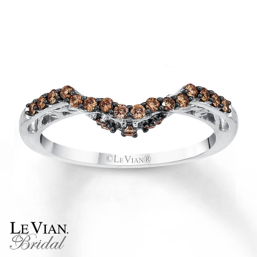 Kay – Levian Chocolate Diamonds 1/4 Ct Tw Wedding Band 14K Gold With Regard To Le Vian Wedding Bands (Gallery 2 of 15)