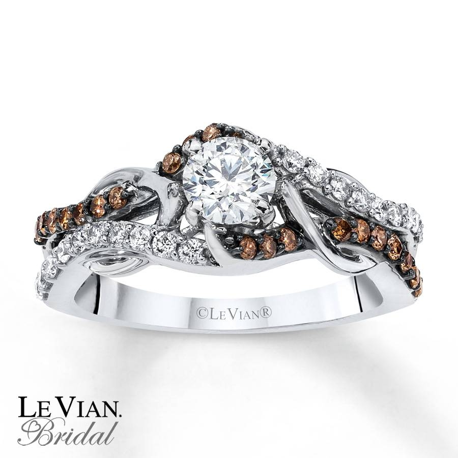 Kay – Levian Chocolate Diamonds 3/4 Ct Tw Engagement Ring 14K Gold Inside Chocolate Wedding Bands (View 13 of 15)