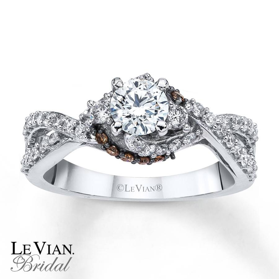 Kay – Levian Chocolate Diamonds 7/8 Ct Tw Engagement Ring 14k Gold Within Le Vian Wedding Bands (View 15 of 15)