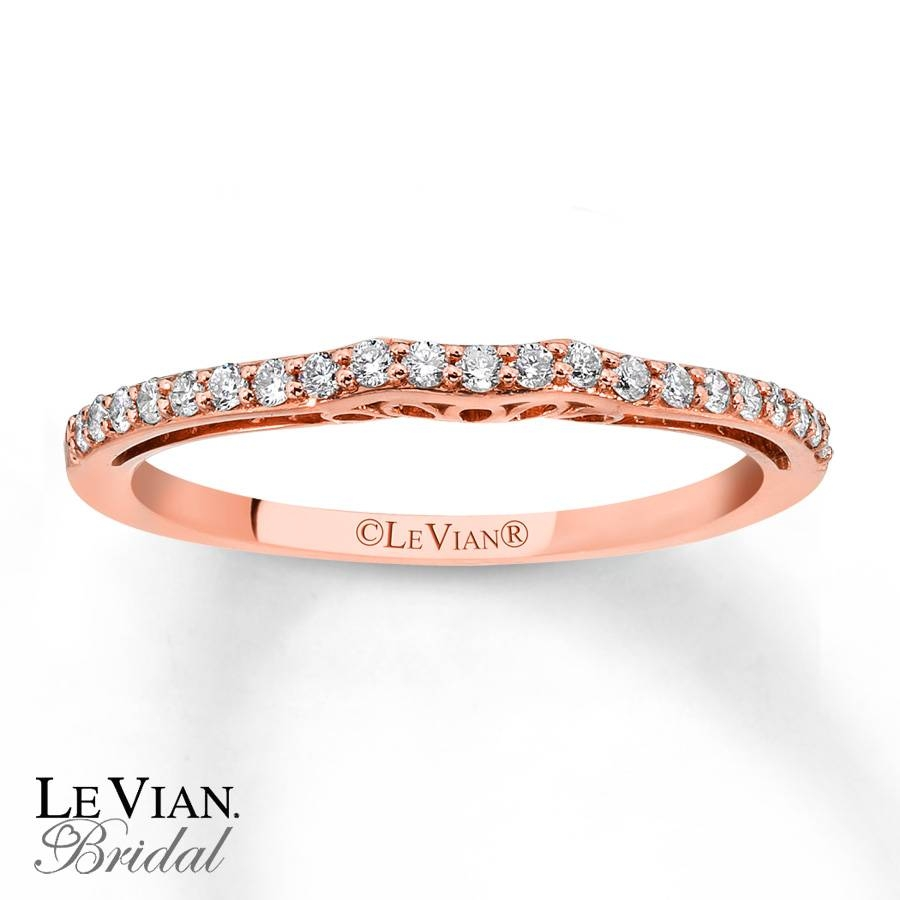 Kay – Levian Vanilla Diamonds 1/6 Ct Tw Wedding Band 14K Gold With Le Vian Wedding Bands (Gallery 3 of 15)