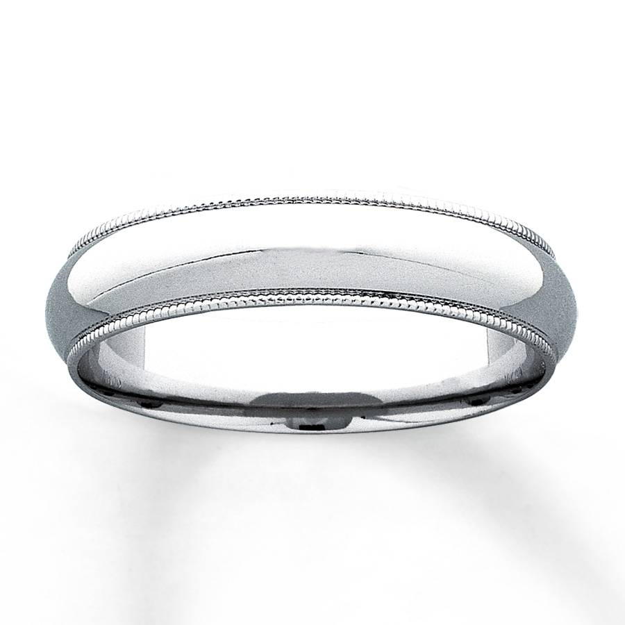 Kay – Men's Wedding Band 10k White Gold 5mm With Regard To White Gold Male Wedding Bands (View 12 of 15)