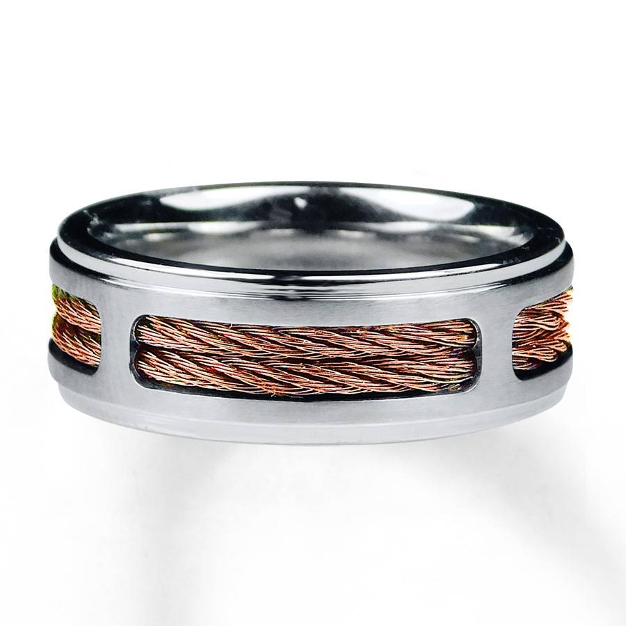 Kay – Men's Wedding Band Stainless Steel Copper Tone Ion Plating Within Copper Men's Wedding Bands (View 12 of 15)
