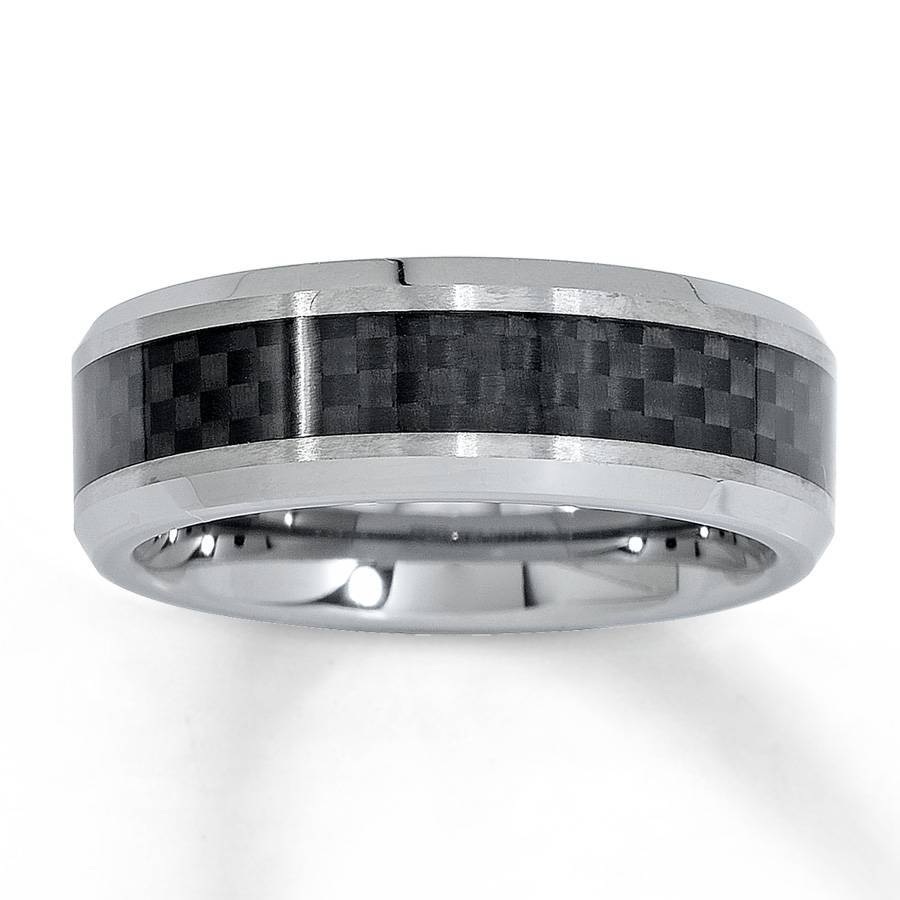 Kay – Men's Wedding Band Tungsten Carbide 8Mm With Regard To Kay Jewelers Men Wedding Bands (View 10 of 15)