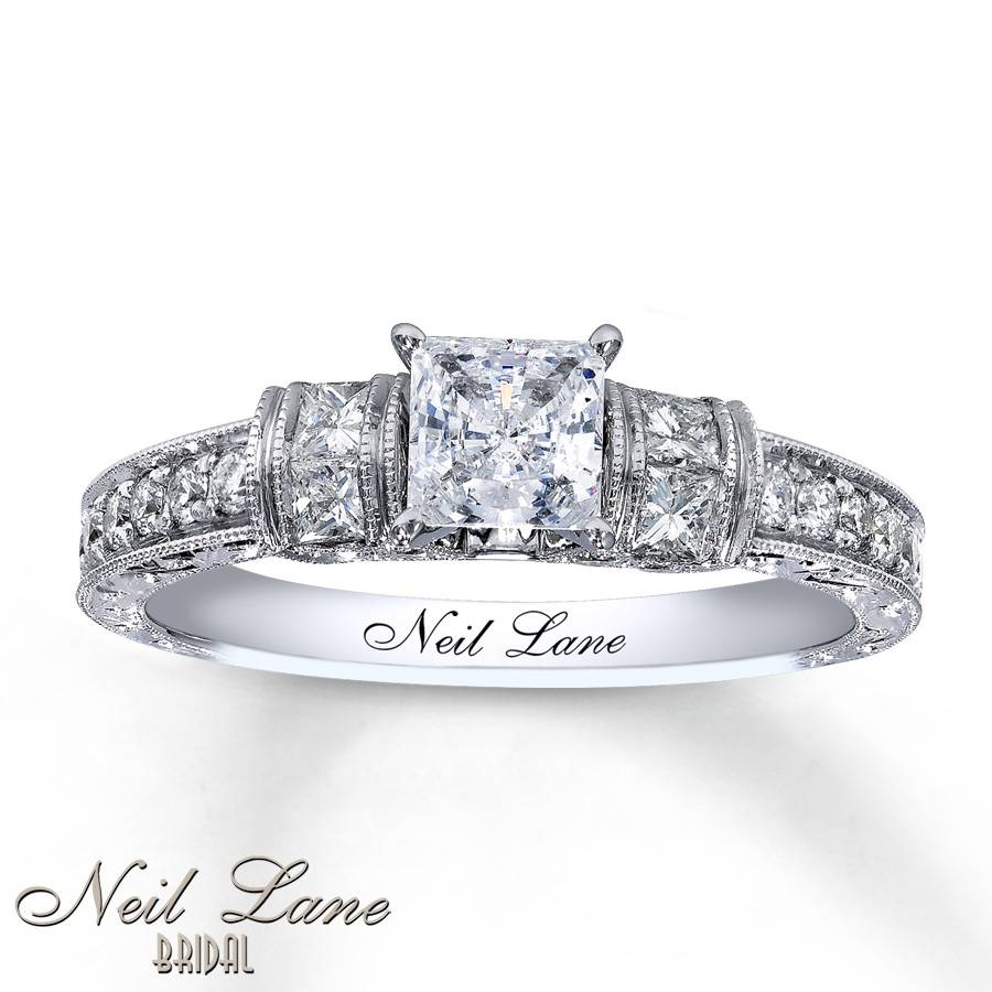 Kay – Neil Lane Bridal Ring 1 1/8 Ct Tw Diamonds 14k White Gold Throughout Discontinued Engagement Rings (View 3 of 15)