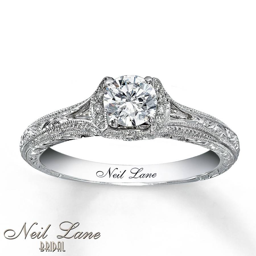 Kay – Neil Lane Bridal Ring 5/8 Ct Tw Diamonds 14K White Gold In Engagement Rings Inside Wedding Band (View 9 of 15)