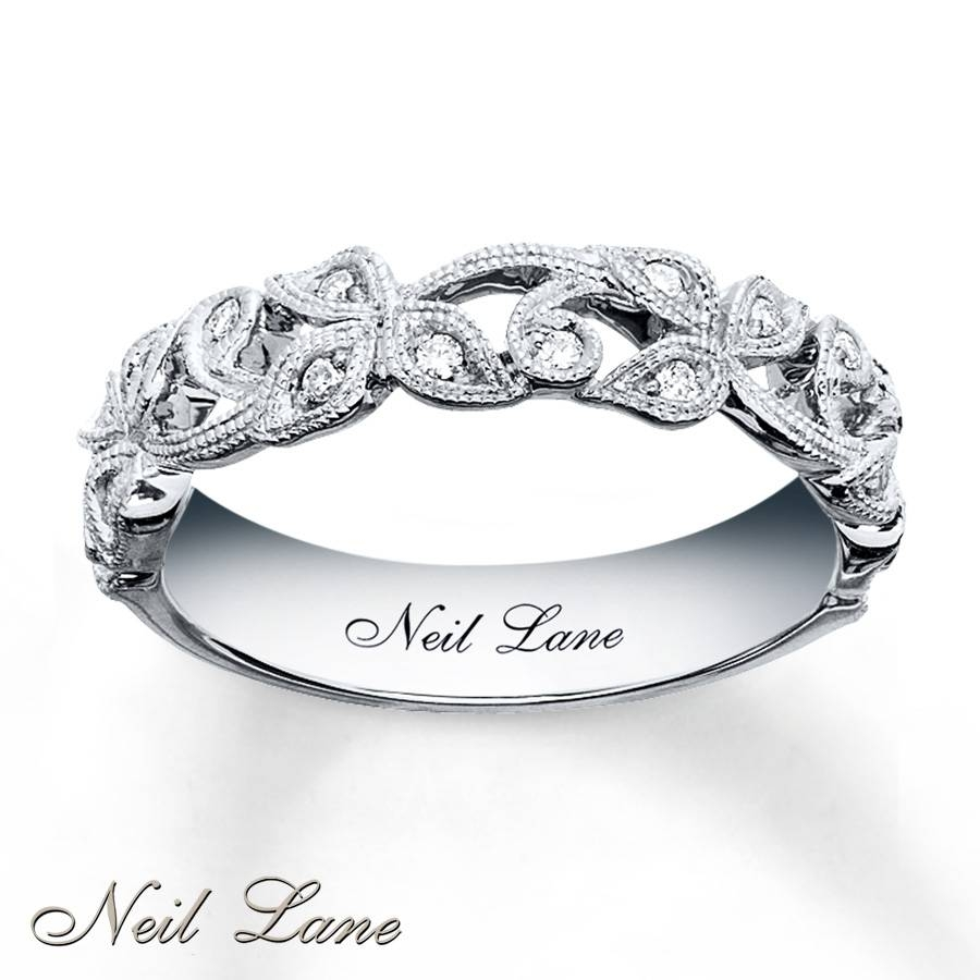 Kay – Neil Lane Designs Ring 1/8 Ct Tw Diamonds Sterling Silver Inside Silver Engagement Bands (Gallery 8 of 15)